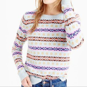 J. Crew Fair Isle Lambs Wool Sweater Small